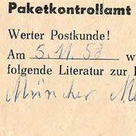 Postzensur 1958