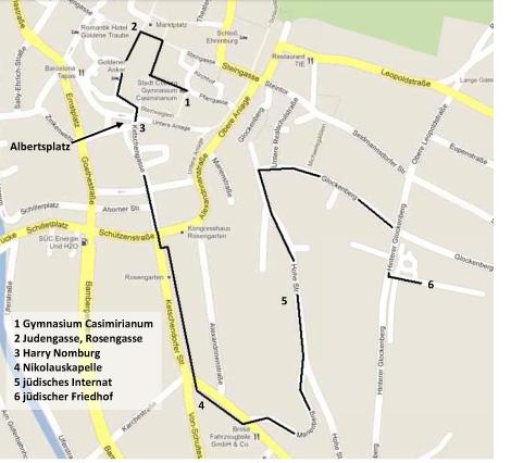 Stadtplan zum Audioguide