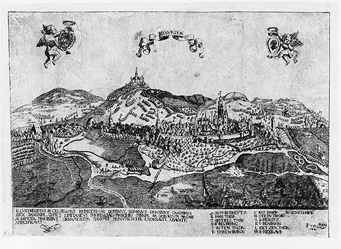 Coburg Gesamtansicht und Veste dat. 1603