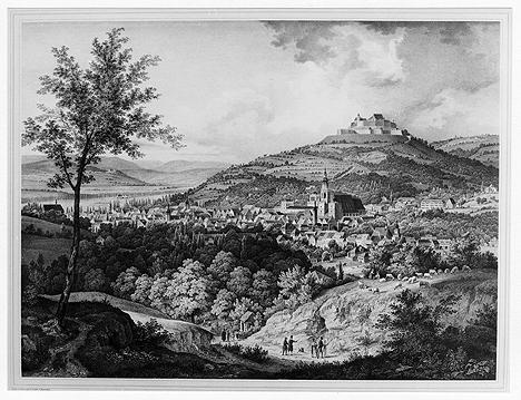 Süd-westliche Ansicht mit Veste Coburg