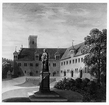 Westhof der Veste mit Bilck auf das ehemalige Korn- oder Schafhaus