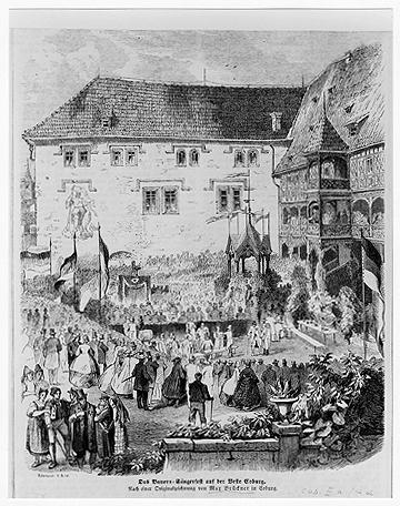 Das Bauersängerfest am 29. Juni 1862 im Osthof der Veste Coburg
