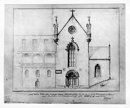 Aufrissentwurf für den Umbau der Lutherkapelle an der Veste Coburg