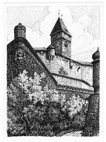 Der Haupteingang der Veste Coburg