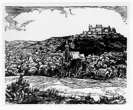 Blick vom Judenberg auf Stadt und Veste Coburg