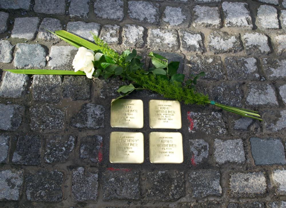 Stolpersteinverlegung am 9. März 2020 im Steinweg 53