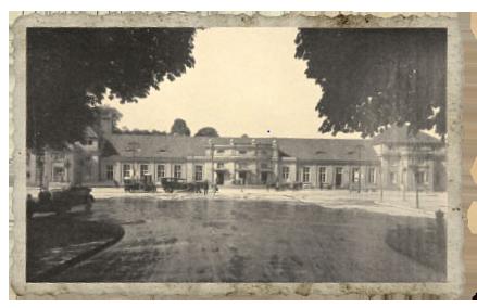 Historisches Foto vom Bahnhofsplatz