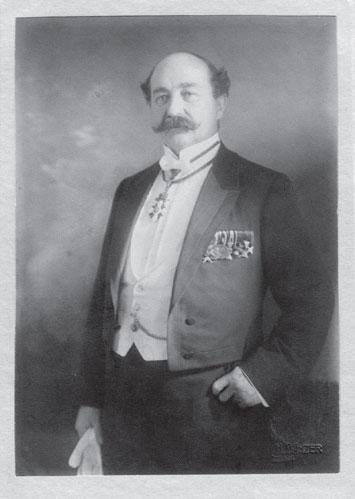 Portrait vom 1. Bürgermeister Gustav Hirschfeld