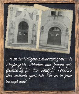 Eingänge der Heiligkreuzschule