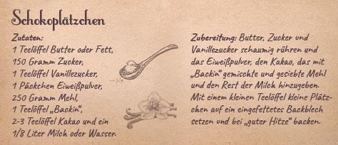 Rezept Schokoplätzchen