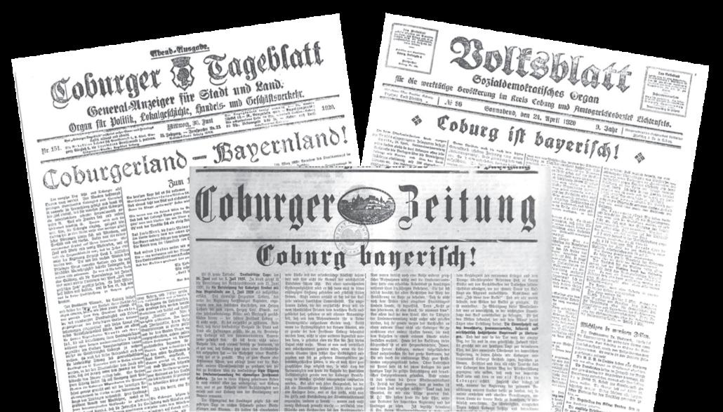 Abbildungen von Tageszeitungen