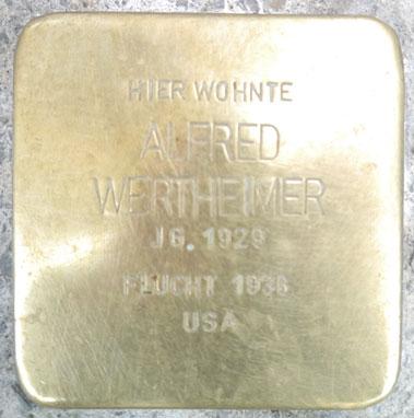 Stolperstein Alfred Wertheimer