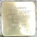 """Stolperschein für Heinz """"Henry"""" Wertheimer"""