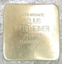Stolperstein von Julius Wertheimer