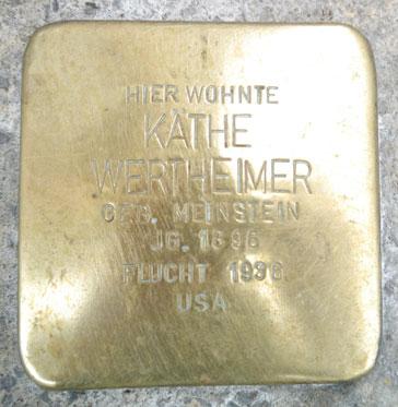 Stolperstein für Käthe Wertheimer